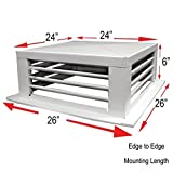 GSW DF-24P 24-Inch White Powder Coated 4-Way Adjustable Metal Diffuser for Evaporative/Swamp Cooler