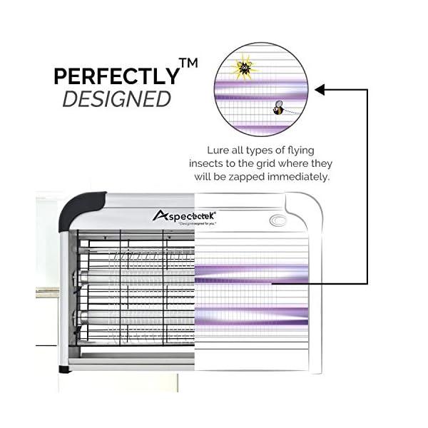 ASPECTEK Bug Zapper Repellente per Zanzare - Lampada UV, Assassino di Insetti Elettrico 20W, Cacciatorpediniere per… 2 spesavip