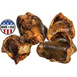 Pawstruck Knee Cap Bones Dogs (10 Bones) Made in USA & Natural | Long Lasting Meaty Chews Made American Cattle | Single Ingredient Meat Treat, No Artificial Flavors | Supports Dental Health