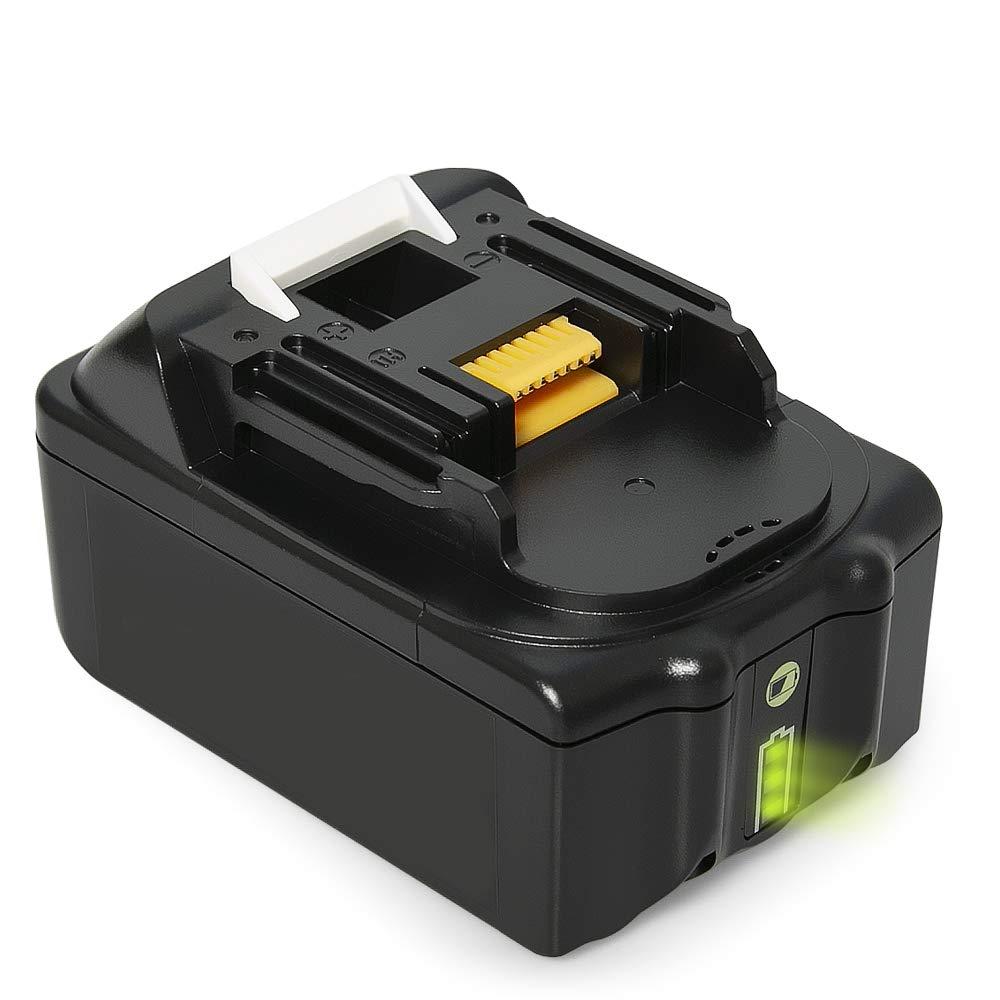 DheTech BL1850B 18V 5.0Ah Baterí a de Repuesto para Makita BL1860 BL1850 BL1850B BL1840 BL1830 BL1845 BL1815 194205-3 194309-1 LXT400(1 piezas)