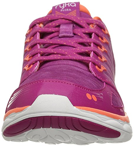 Pink US w Gry Flora Walking Shoe Gry Women's White Coral PNK Ryka 8nzxw6aq