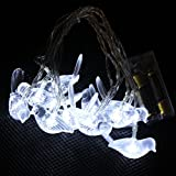 Dealglad 2.5M 10-LEDs Battery Powered Fairy String Light Festival Lamp for Christmas Wedding Party Decoration (Bird, White)