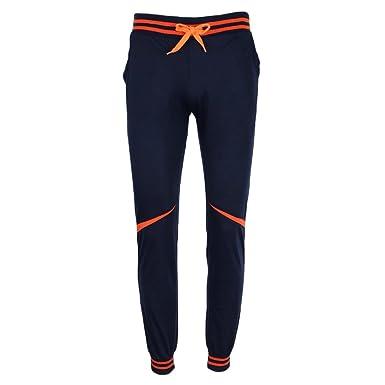 D DOLITY Pantalones de Raya Chándal Bottom Lápiz Mujeres Señoras ...
