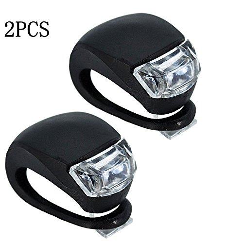 2x LED Bicycle Bike Cycling Silicone Head Front Rear Wheel Frog Light Lamp Free shipping (Dewalt Work Light Tripod)