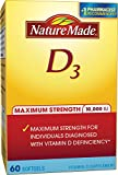 Nature Made Maximum Strength Vitamin D3 10,000 I.U. Soft gel, 60 Count