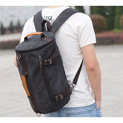 Outreo Bolsas de Viaje Mochilas Hombre Vintage Backpack Bolsos Bandolera Casual Daypack Escolares Sport Outdoor Bag para Escuela Bolsos de Tela Colegio Baratos Mochila Gris