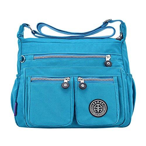 de Mano Bandolera Gris Oscuro Hombro Viaje Crossbody Mochila Logobeing Azul Bolsos Bags Baratos Casual de Bolso Bw5xCqAnx