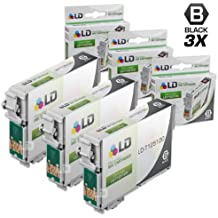 LD Products Remanufactured Ink Cartridge Replacement for Epson 125 ( Black , 3-Pack )