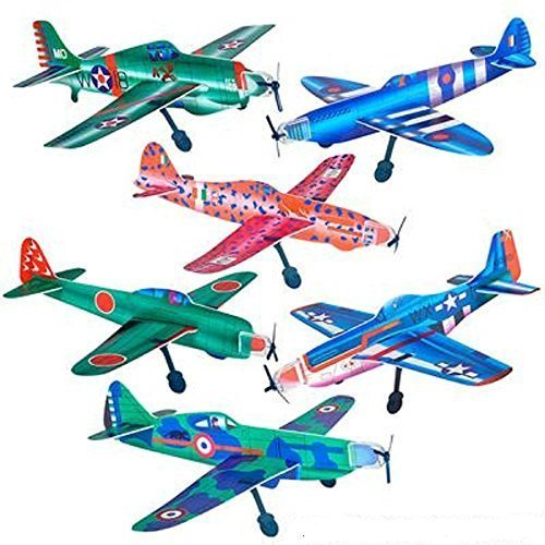 Rhode Island Novelty 11 Inch Super Glider Planes - 24 Pack (Assortment Vaes)