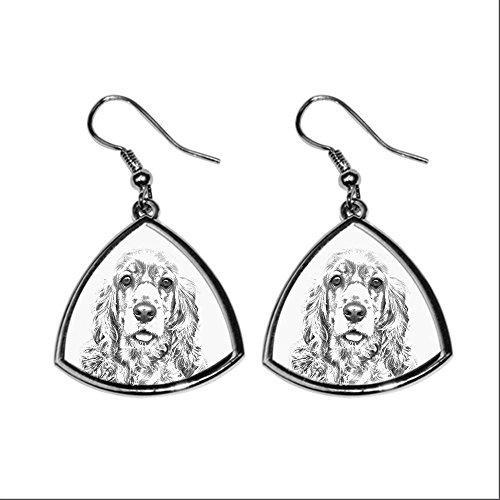 american-cocker-spaniel-collection-of-earrings-with-images-of-purebred-dogs-collection-de-boucles-do