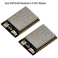 Makerfocus 2pcs ESP32-Bit Bluetooth 4.2 WiFi Module Dual Core Processor 240MHz CPU Support Linux Windows Mac IOT New Version