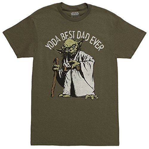 Star Wars Men's Officially Licensed Tees For Dad, Green//Green Dad, x-Large