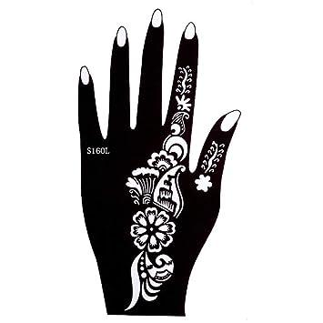 Plantilla de tatuaje de henna para la mano derecha o izquierda de ...