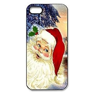 Custom Merry Christmas Santa Claus hard back shell for iPhone 5/5s