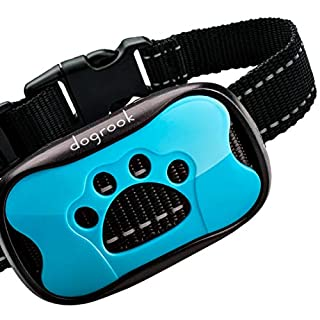 DogRook Rechargeable Bark Collar - Humane, No Shock Training - Action Without Remote - Vibration & Sound Care Modes - for Small, Medium, Large Dogs Breeds - No Harm Deterrent Vibrating Control
