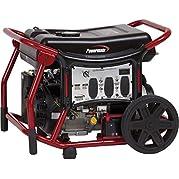 Powermate Portable Generator, 120/240v, 8125w, Electric/Recoil Start