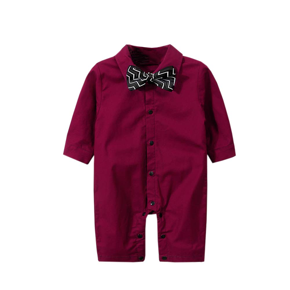 f68a3762bdae Amazon.com  Fairy Baby Newborn Baby Boys Onesie Gentleman Outfit ...