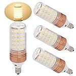 Ulight E12 led candelabra bulb, 100w halogen bulbs equivalent, warm white led bulb 1100lm, degree beam angle for ceiling fan lighting, chandelier light pack of 3 (Warm White 3000K) 360