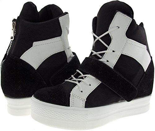 Zapatillas Velcro altas Negro Bandas altas hasta Blanco C2 zapatillas 1 C2 Maxstar 5OYq0wT