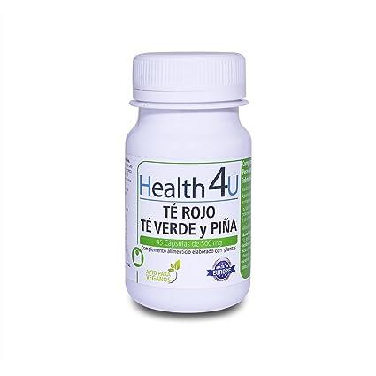 H4U Té Rojo, Té Verde y Piña 45 cápsulas de 500 mg