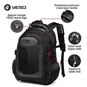 9a76a3fd847 Yeso Gym Backpack Laptop Brand Men S Travel Bags Computer Multifunctional  Waterproof Oxford Black Backpacks For Teen - Black  Amazon.in  Bags, ...