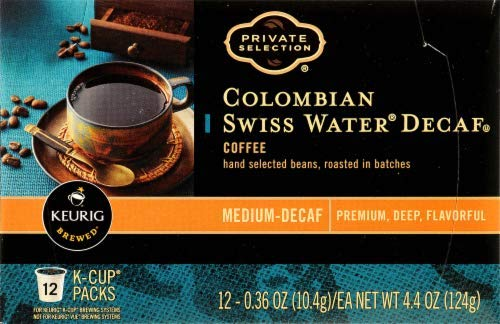 Private Selection Colombian Swiss Water Decaf K-Cups 12 Ct (Pack of 2) (Water Swiss Colombian)