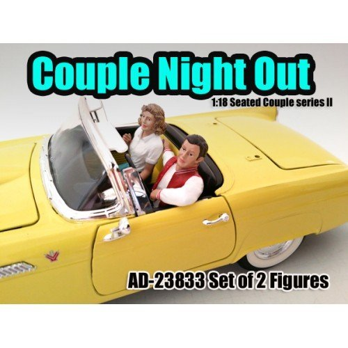 Seated Couple 2 Piece Figure Set Release 2 for 1:18 Models by American Diorama (Diorama Figure Set)