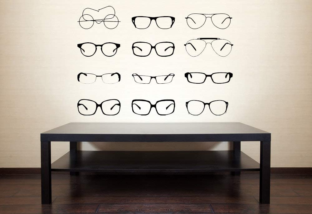 Eye Glasses Glasses Decal Optometry Decorations Optometrist Decor Office Decor Eye Glass Decor Office Decoration Eye Chart Wall Art and Stick Made in USA