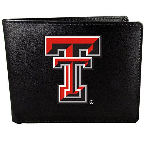 (Siskiyou NCAA Texas Tech Red Raiders Bi-Fold Wallet Logo, Large, Black)