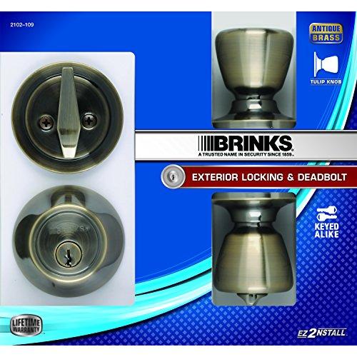 Brinks 2102 109 Tulip Style Keyed Alike Door Knob And