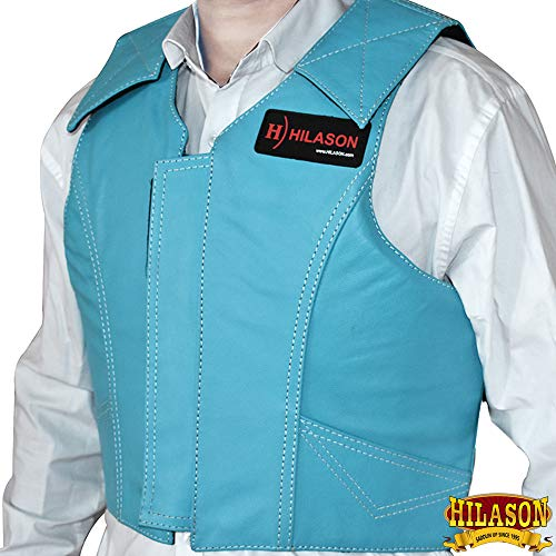 Pro Horse Rodeo - HILASON Medium Leather Bareback Pro Rodeo Horse Riding Protective Vest