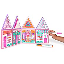 Build & Imagine: Draw & Build Dollhouse (magnetic write-on/wipe-off building set)