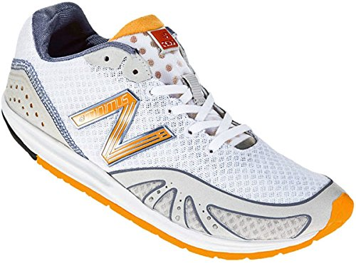 New Balance WR10GY Running Minimus Barefoot Running Shoe Womens,White/Orange,5 B US