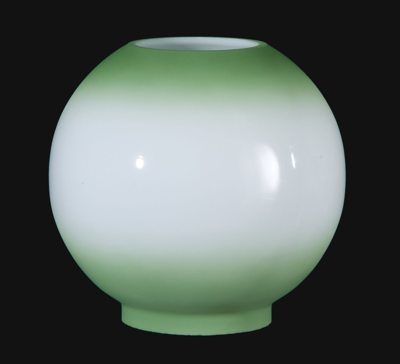 B&P Lamp 8'' Opal Glass Ball Shade, Antique Green Tint by B&P Lamp