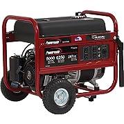 Powermate Portable Generator W/Subaru Engine, 6250w, Recoil Start