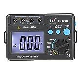 Walmeck HD HDT20B Insulation Resistance Tester Meter Megohmmeter Voltmeter 2500V w/LCD Backlight