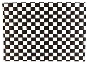 Quid 5135018 Classic Style - Juego de 12 manteles individuales (45 x 30 cm), diseño de cuadros, color blanco y negro