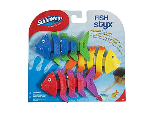 51mtkf9tlcL - SwimWays Fish Styx Pool Diving Toys - Sinking Fish-Shaped Swim Toys - Pack of 3