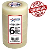 Clear Hockey Tape. Poly Sock Tape. Easy Stretch, Easy Rip. 6 Pack. SportsTape - Made in North America for Hockey.