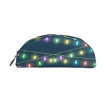 Estuche para lápices con luces de Navidad coloridas, bolsa ...