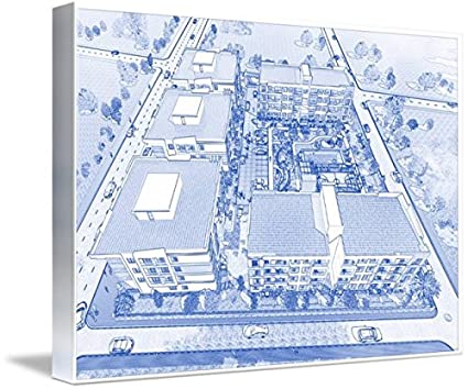 Amazon wall art print entitled blueprint drawing of modern wall art print entitled blueprint drawing of modern apartment complex no 1 by celestial images malvernweather Images