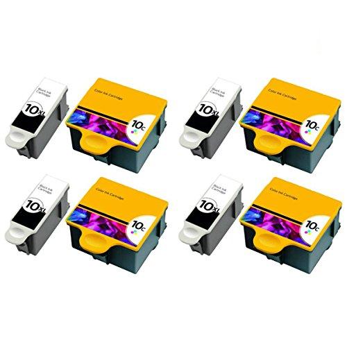 QINK for Kodak 10XL Black Kodak 10 Color Ink Cartridge 8-...