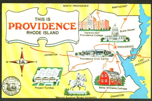 This is Providence RI Map postcard LK-1055 1950s at Amazon\'s ...