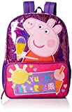 Peppa Pig Girls' Ice Cream Front Zipper Pocket 16 inch Backpack, Pink