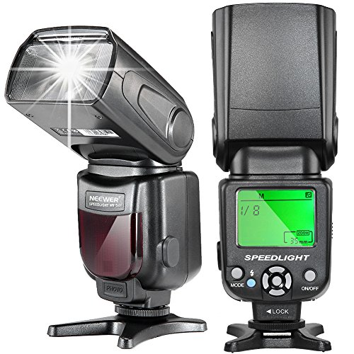 Neewer NW-561 LCD Display Speedlite Flash for Canon & Nikon DSLR Cameras,Such as Canon EOS 1100D 550D,5D Mark II III and Nikon D7200 D7100 D7000 and Other DSLR Cameras with - Camera Slr 5d