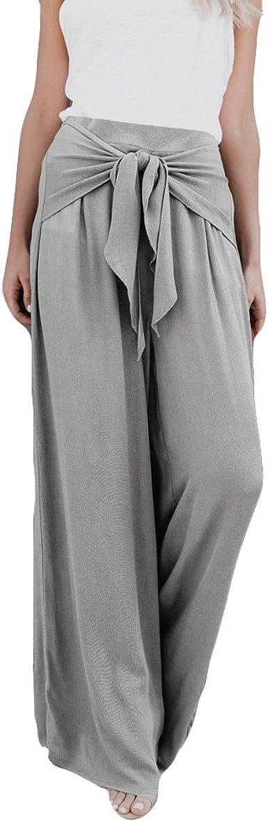 Pantalones Anchos Para Mujer Otono Invierno 2018 Moda Paolian Casual Pantalones Marlene De Vestir Cintura Alta Fiesta Palazzo Pantalon Acampanados Baggy Negro Con Cinturon Senora Amazon Es Ropa Y Accesorios