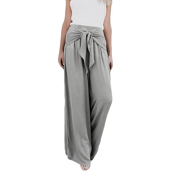 Pantalones Anchos para Mujer Otoño Invierno 2018 Moda PAOLIAN Casual  Pantalones Marlene de Vestir Cintura Alta Fiesta Palazzo Pantalon  Acampanados Baggy ... dd09334af2d