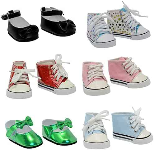 fc7163f7ffd8 The New York Doll Collection 6 Pairs of Doll Shoes Fits 18