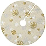 Vgia 50 Christmas Tree Skirt With Snow Pattern