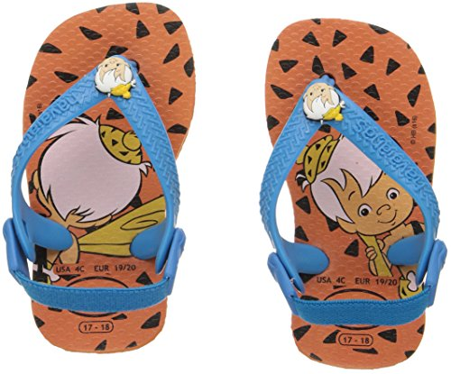 Pictures of Havaianas Kids Flip Flop Sandals, Baby Flintstones, Bamm-Bamm Rubble, (Toddler/Little Kid), Neon Orange, Neon Orange,22 BR (8 M US Toddler) 4